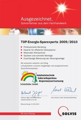 TOP-Energie-Sparexperte 2010
