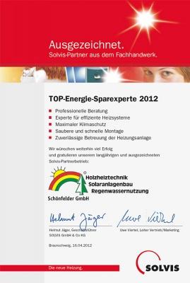 TOP-Energie-Sparexperte 2012